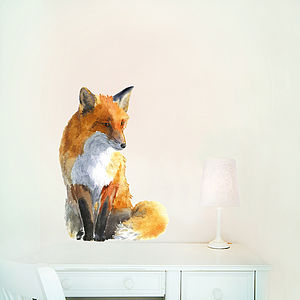Fox Wall Sticker, Pvc Free Fabric - wall stickers