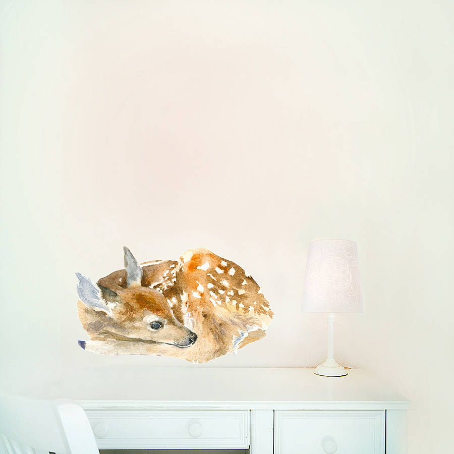 sleeping deer wall sticker by chocovenyl stag and deer vinyl wall stickers by oakdene designs