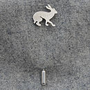 Silver Hare Stick Pin