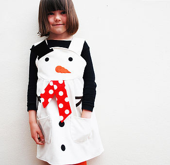 Snowman Girls Dress