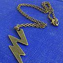 Frankenstein Lightning Bolt Necklace