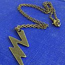 Frankenstein Lightning Bolt Necklace