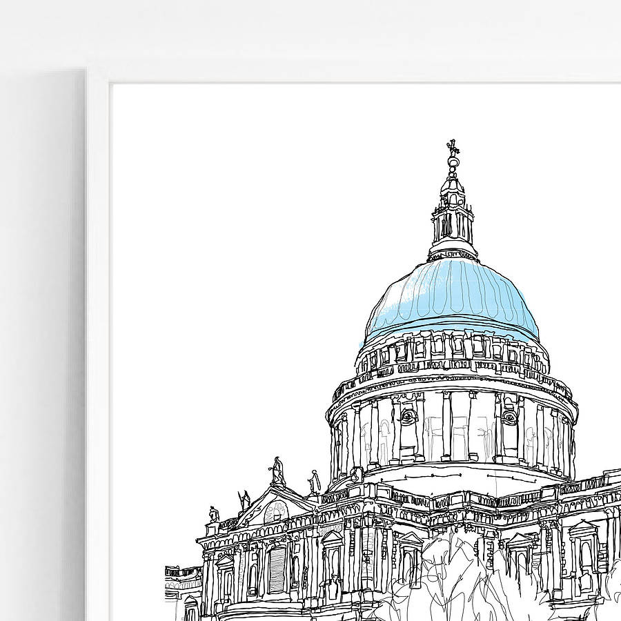 St Paul S Cathedral Signed Print By Simon Harmer