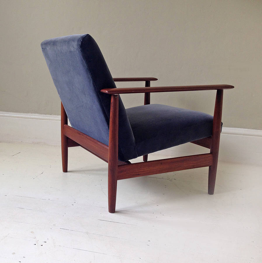 1950 s danish lounge chair in velvet by hickey and dobson