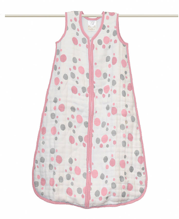 muslin baby sleeping bag by lush baby. Black Bedroom Furniture Sets. Home Design Ideas