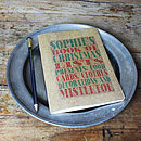 Personalised Christmas Lists Notebook