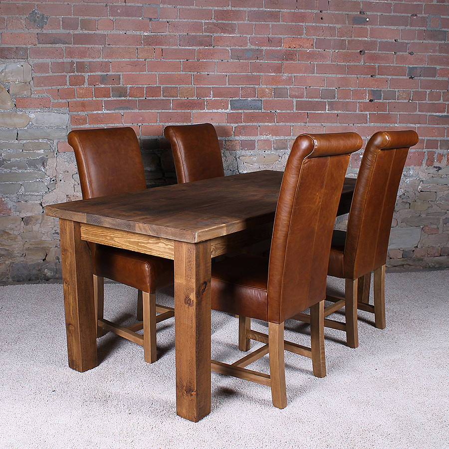 Wood Dinette Tables ~ Solid wood dining table by h f notonthehighstreet