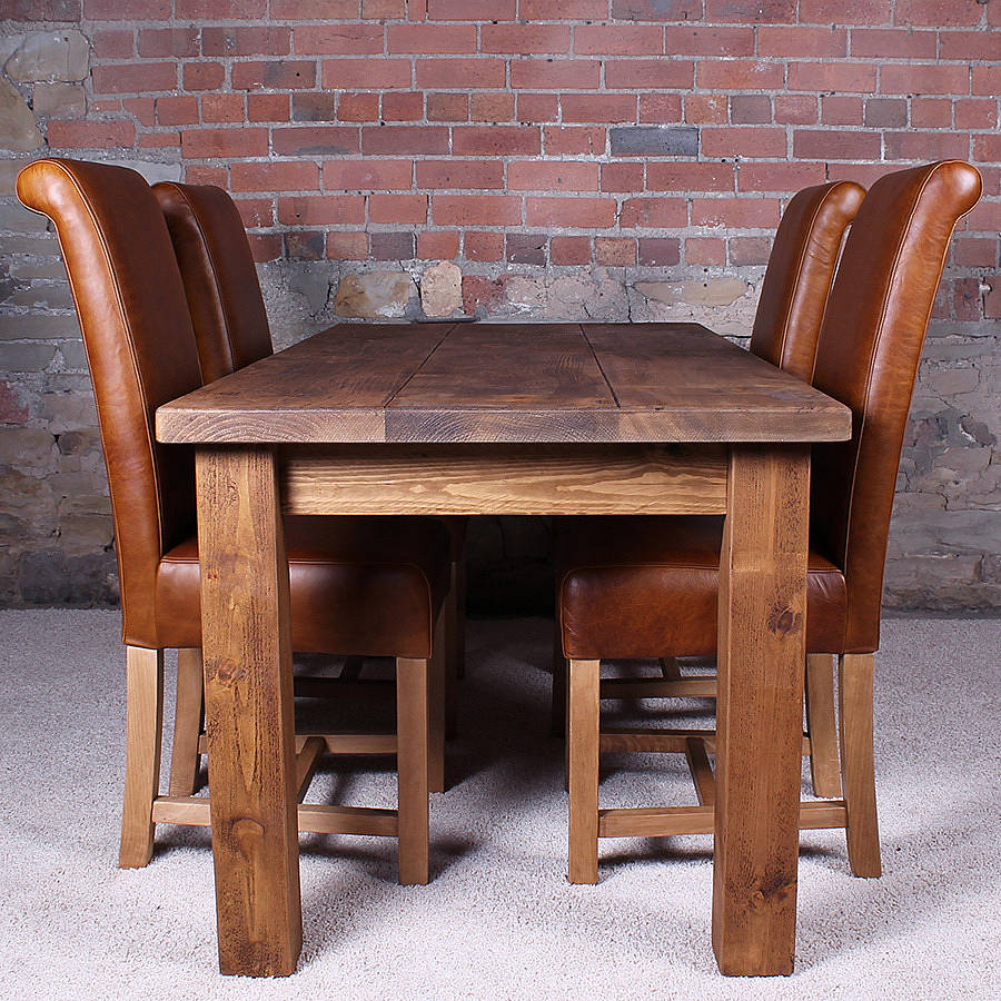 Solid Wood Kitchen Tables: Solid Wood Dining Table By H&f