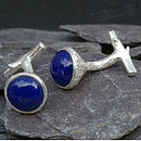 Cufflinks Set With Lapis Lazuli