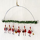 Father Christmas Band Hanging Garland