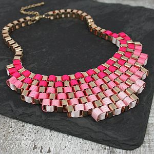 Multicolour Metal Weave Necklace - spring brights