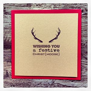 Christ Moose Vintage Christmas Card