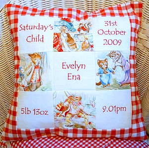 Beatrix Potter* Memory Cushion** - decorative accessories