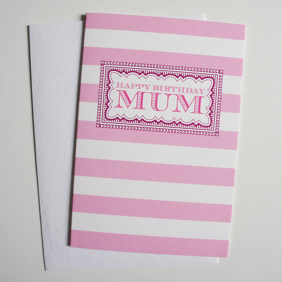 Mums Birthday Card By Dimitria Jordan