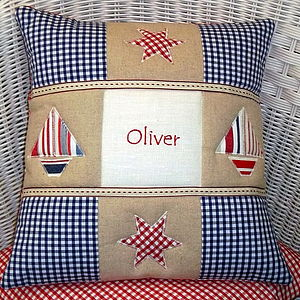 Appliquéd Name Cushion - cushions