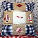 Appliquéd Name Cushion