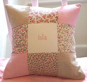 Patchwork Name Cushion
