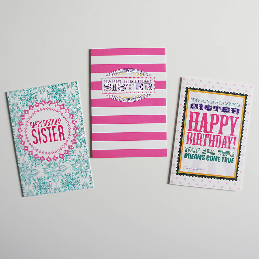 Sister Birthday Card By Dimitria Jordan Notonthehighstreet
