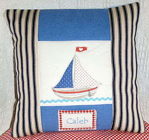 Small Boat Cushion - bedroom