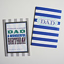 'Dad' Birthday Greeting Card