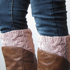 Hand Knitted Boot Cuffs - socks