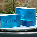 personalised bath soap for him