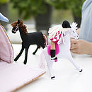 Handmade Horses' Stable Soft Play Toy