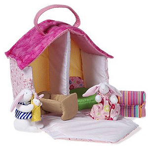 Fabric Bunny Doll's House - soft toys & dolls