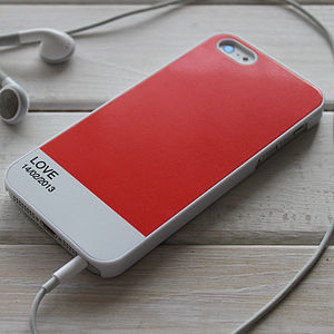 Personalised Block Colour Case For iPhone