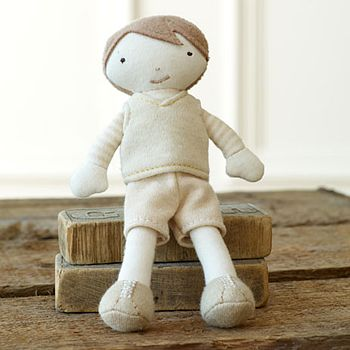 Organic Brother Rag Doll In Gift Box