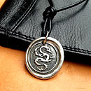 Silver Wax Seal Dragon Necklace