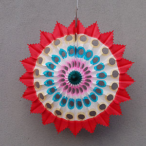 Decorative Paper Fan - room decorations