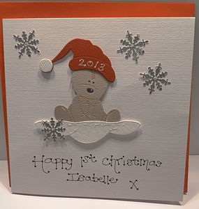 Personlised Baby's 1st Christmas Card - cards