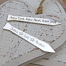 Silver Personalised Tie Collar Stiffeners