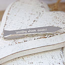 Silver Personalised Tie Shaped Tie Slide