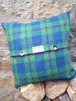 Harris Tweed Check Cushion