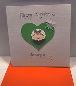 Personalised Mrs Claus Christmas Card - winter sale