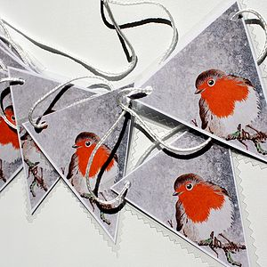 Christmas Robin Bunting - christmas parties & entertaining