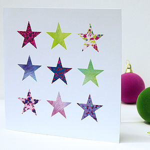 Christmas Stars Card Pack