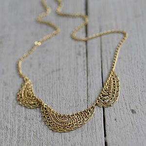Gold Scallop Necklace - women's jewellery