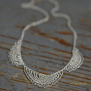 Sterling Silver Scallop Necklace