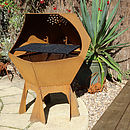 Decahedron Fire Pit and Barbecue with Grill