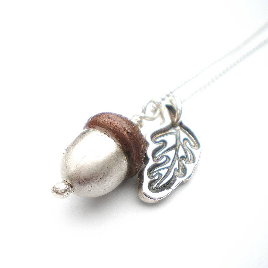 to product make bronze pendant learn moonrise acorn jewellery
