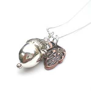 Silver Acorn Pendant - necklaces & pendants