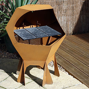 Decahedron Barbecue And Fire Pit - picnics & barbecues