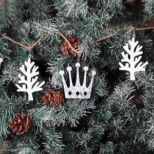 Christmas Crown And Tree Garland