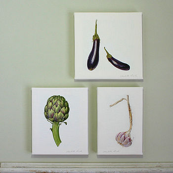 'Mediterranean Veg.' Botanical Canvas Prints