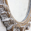 Oval Bevelled Ornate Mirror