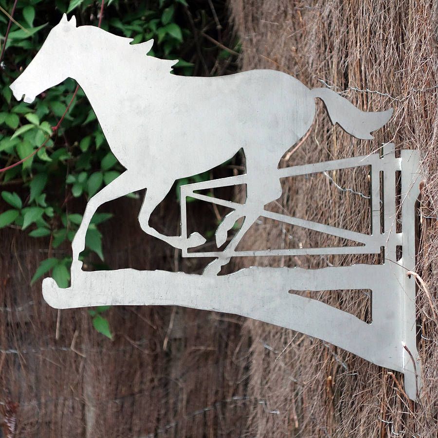 Art Deco Hanging Basket Brackets : Horse and gate hanging basket bracket by digby scott