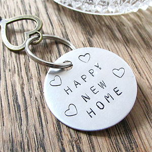 House Warming New Home Key Ring - keyrings
